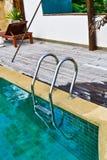 De Ladder van het Zwembad Royalty-vrije Stock Fotografie