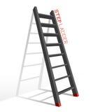 De Laddervector van de metaalstap Royalty-vrije Stock Afbeeldingen