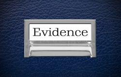 De Lade van het bewijsmateriaaldossier stock foto