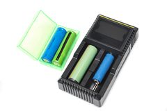 De lader van de batterij Stock Fotografie