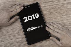 de lading van 2019 stock afbeeldingen