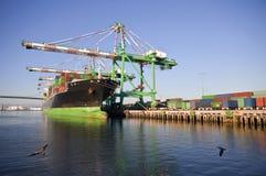 De Lading van de container Stock Afbeelding