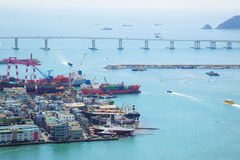 De Lading van de haven/LuchtMening/Azië stock fotografie