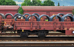 De lading van de treinspoorweg Stock Foto