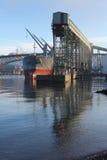 De Lading van het Vrachtschip, Burrard Inham, Vancouver Royalty-vrije Stock Afbeelding