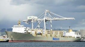 De lading van KAUAI van het MatsonVrachtschip bij de Haven van Oakland royalty-vrije stock fotografie