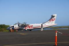 De lading van Tahiti ATR72 van de lucht Royalty-vrije Stock Foto's
