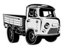 De ladingsbestelwagen van de beeldverhaallevering Stock Afbeeldingen