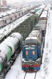 De ladingsverbinding van de spoorweg Royalty-vrije Stock Fotografie