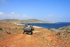 De lado a lado en Aruba Imagenes de archivo