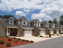 De lage Flatgebouwen met koopflats van de Pensionering van het Inkomen of Complex Stock Fotografie