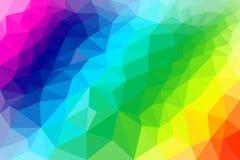 De lage Poly abstracte kleuren van de achtergrondillustratieregenboog vector illustratie