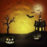 De lage polysamenstelling van Halloween Stock Foto