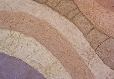 De lagen van de grond en, zijn kleuren en texturen Stock Afbeelding