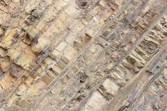 De lagen van de rots Stock Foto's
