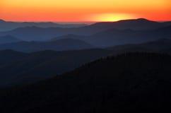 De Lagen van de zonsondergang Stock Foto