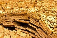 De lagenlagen van de rots van de grond Stock Afbeelding