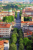 De lagere stad van Bergamo, Italië royalty-vrije stock foto
