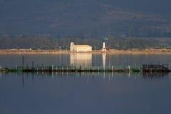 De Lagune en de Kerk van Mesologgi stock foto