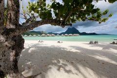 De lagune ot Bora Bora Royalty-vrije Stock Foto