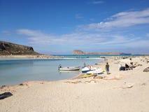 De lagune van Balos Royalty-vrije Stock Foto's