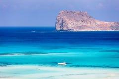De lagune van Balos Royalty-vrije Stock Fotografie