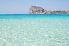 De lagune van Balos van Kreta, Griekenland Stock Afbeeldingen
