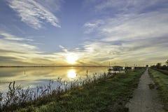 De lagune van de Comacchiovallei Royalty-vrije Stock Afbeelding