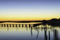 De lagune van de Comacchiovallei Stock Fotografie