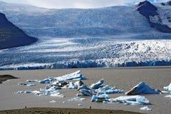 De lagune van de gletsjer in IJsland Stock Foto's