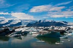 De lagune van de gletsjer in IJsland Stock Afbeeldingen