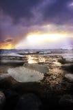 De Lagune van de gletsjer in IJsland Royalty-vrije Stock Foto