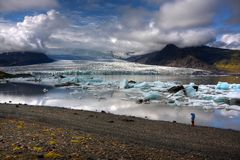 De Lagune van de Gletsjer van Breidarlon Royalty-vrije Stock Afbeelding