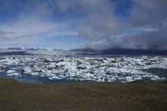De lagune van de gletsjer, Vatnajökull, IJsland Stock Afbeeldingen