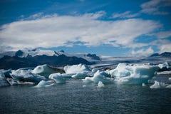 De lagune van de Jokulsarlongletsjer in IJsland Stock Fotografie