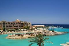De lagune van de palaciotoevlucht van Gr in Egypte Royalty-vrije Stock Fotografie