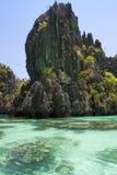 De lagune van Gr Nido Stock Afbeeldingen
