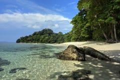De lagune van het paradijs Stock Foto