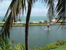 De lagune van het paradijs Stock Foto's