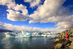 De lagune van Jokulsarlon Royalty-vrije Stock Foto