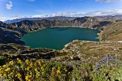 De lagune van Quilotoa Stock Afbeeldingen