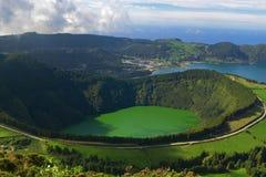 De Lagune van Santiago, Sete Cidades, San Miguel, de Azoren royalty-vrije stock afbeelding