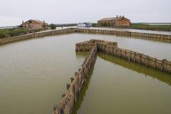 De lagune van Venetië, met tipical oud huis van visser Royalty-vrije Stock Foto