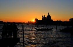 De lagunezonsondergang van Venetië Royalty-vrije Stock Foto's