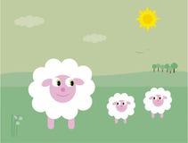 De lammeren van de lente stock illustratie
