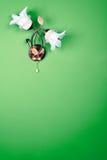 De lamp van de bloem op de muur Stock Afbeeldingen