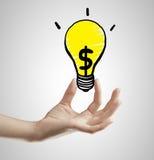De lamp van de handholding Royalty-vrije Stock Fotografie
