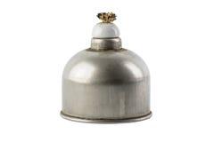 De lamp van de laboratoriumgeest met alcoholbrandwonden die wordt gevuld Wetenschappelijke equi royalty-vrije stock afbeelding