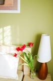 De lamp van de slaapkamer Stock Foto's