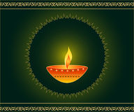 De lamp van Diwali Stock Foto